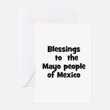 Blessings  to  the  Mayo peop Greeting Cards (Pk o