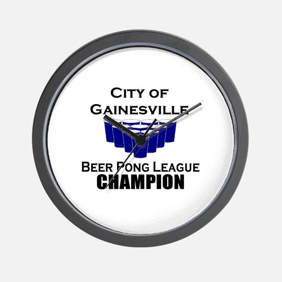 City of Gainesville Beer Pong Wall Clock