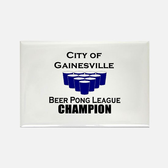 City of Gainesville Beer Pong Rectangle Magnet