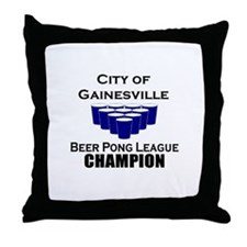 City of Gainesville Beer Pong Throw Pillow