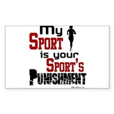 My Sport (Female) Rectangle Decal