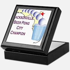 Jacksonville Beer Pong City C Keepsake Box