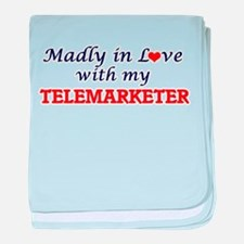 Madly in love with my Telemarketer baby blanket