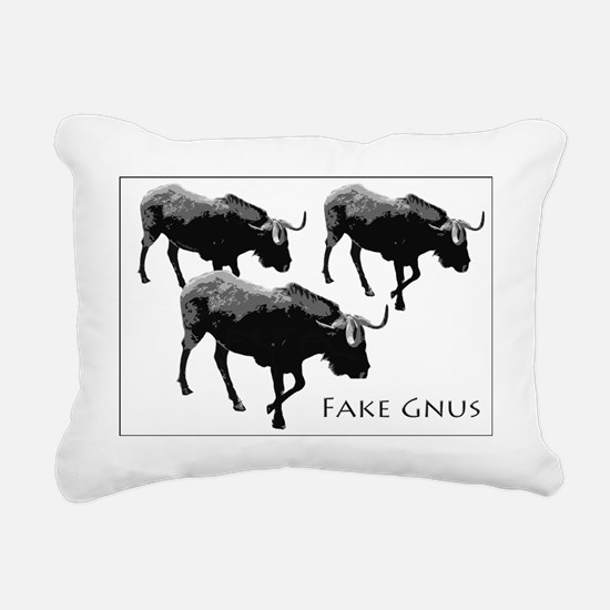 Funny Gnu Rectangular Canvas Pillow