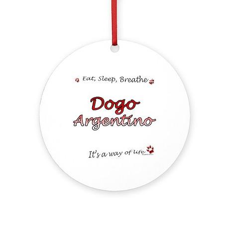 Dogo Breathe Ornament (Round)