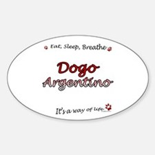 Dogo Breathe Oval Decal