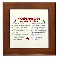 Pomeranian Property Laws 2 Framed Tile