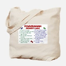 Pomeranian Property Laws 2 Tote Bag