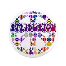 "Imagine Peace Anti-war Art 3.5"" Button"
