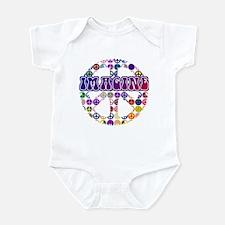 Imagine Peace Anti-war Art Infant Bodysuit