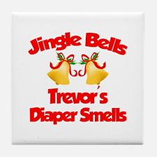 Trevor - Jingle Bells Tile Coaster