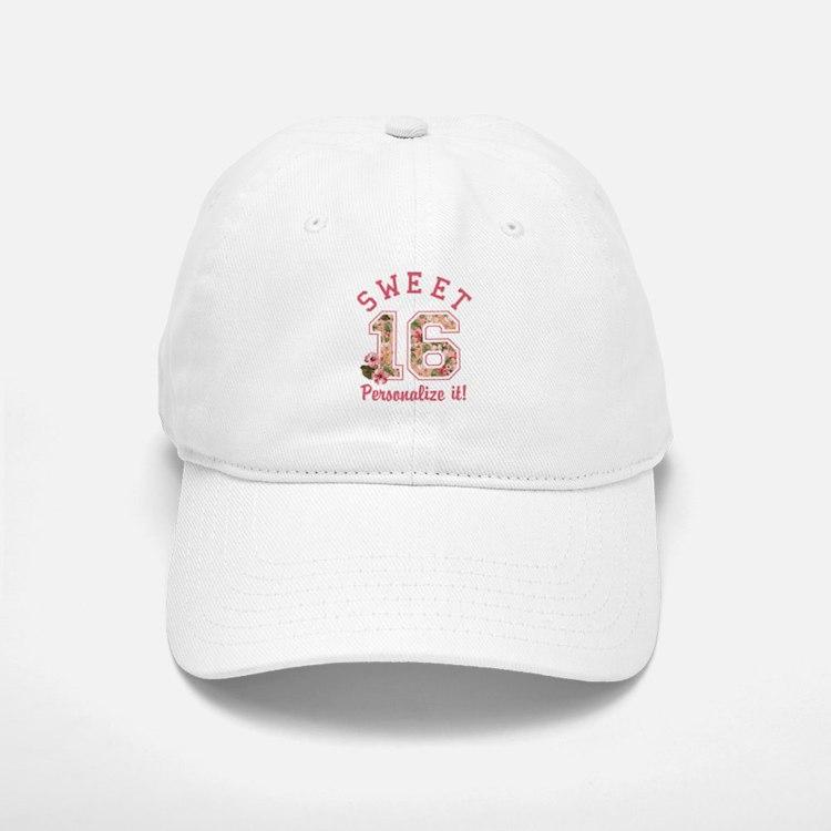 PERSONALIZED Sweet 16 Baseball Baseball Baseball Cap