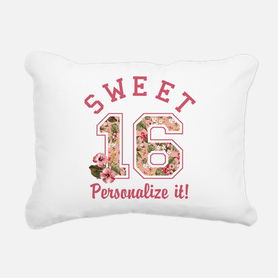 PERSONALIZED Sweet 16 Rectangular Canvas Pillow