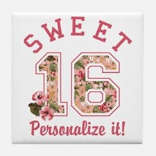 PERSONALIZED Sweet 16 Tile Coaster