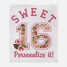 PERSONALIZED Sweet 16 Throw Blanket