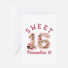 PERSONALIZED Sweet 16 Greeting Cards