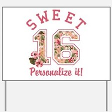 PERSONALIZED Sweet 16 Yard Sign