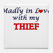 Madly in love with my Thief Tile Coaster