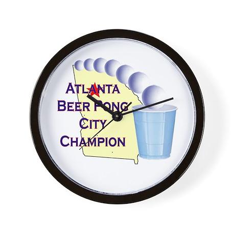 Atlanta Beer Pong City Champi Wall Clock