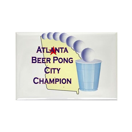 Atlanta Beer Pong City Champi Rectangle Magnet (10
