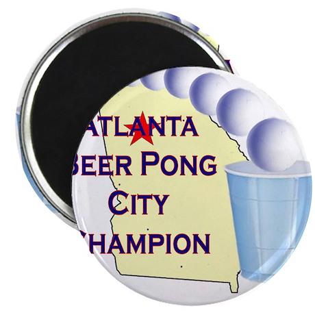 Atlanta Beer Pong City Champi Magnet