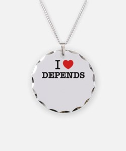 I Love DEPENDS Necklace