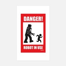 Danger: Robot in Use Rectangle Decal
