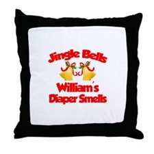 William - Jingle Bells Throw Pillow