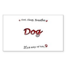 Dog Breathe Rectangle Decal