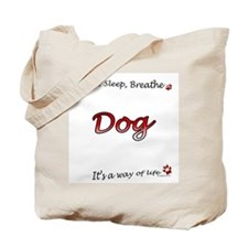 Dog Breathe Tote Bag