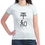 Kanji Peace Jr. Ringer T-Shirt