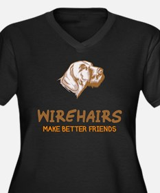 German Wirehaired Pointer Women's Plus Size V-Neck