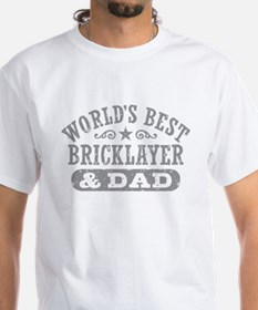 World's Best Bricklayer and Dad T-Shirt