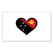 Papua New Guinea Love Rectangle Decal