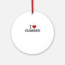 I Love CLIMBED Round Ornament