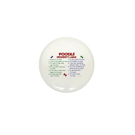 Poodle Property Laws 2 Mini Button (100 pack)