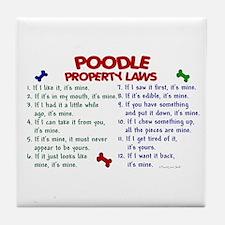 Poodle Property Laws 2 Tile Coaster