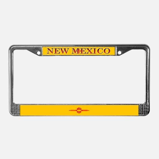 New Mexico Blank Flag License Plate Frame