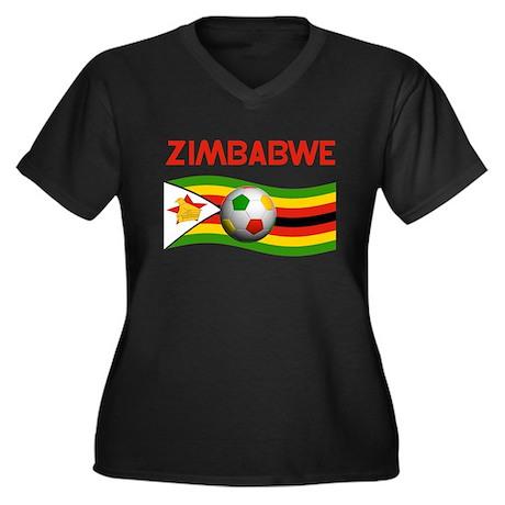 TEAM ZIMBABWE WORLD CUP Women's Plus Size V-Neck D