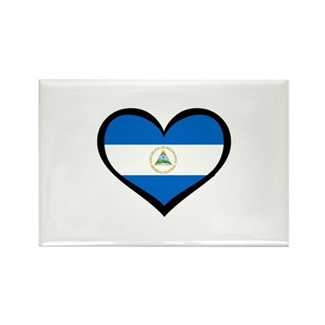 Nicaragua Love Rectangle Magnet (10 pack)