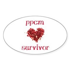 PPCM Survivor Oval sticker