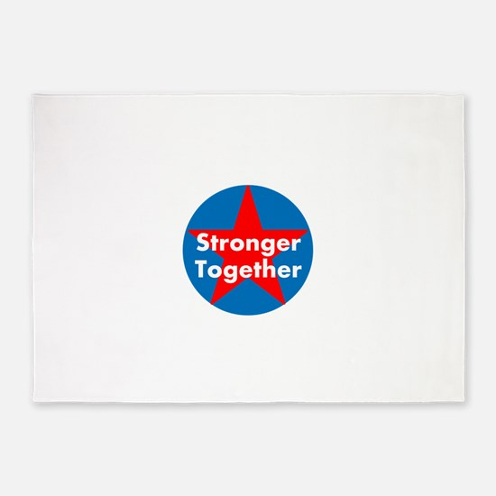 Stronger Together, Hillary 2016 5'x7'Area Rug