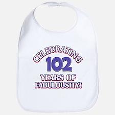 Fabulous At 102 Birthday Designs Bib