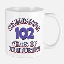 Fabulous At 102 Birthday Designs Mug