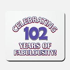 Fabulous At 102 Birthday Designs Mousepad
