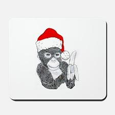 MONKEY DRESSED FOR CHRISTMAS Mousepad