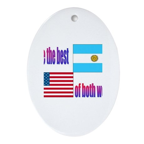 Argentina Oval Ornament