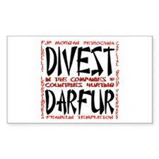 Divest for Darfur Rectangle Decal