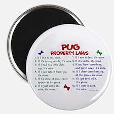 "Pug Property Laws 2 2.25"" Magnet (10 pack)"