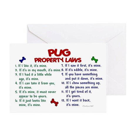 Pug Property Laws 2 Greeting Card